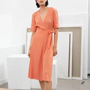 & other stories Midi Wrap Dress / 10